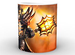 Кружка GeekLand World of Warcraft Мир Военного Ремесла с оружием WW.02.56