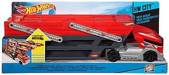 Хот вилс грузовик автовоз Hot Wheels CKC09 Трейлер-автовоз  ckc09 на 50 машинок перевозчик