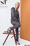 Женский спортивный костюм / двунитка с люрексом / Украина 47-2299, фото 3