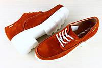 Туфли демисезонные замшевые рыжие