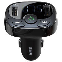 FM Modulator Baseus T-Typed Bluetooth MP3/Charger with Car Holder (CCTM-01) Black