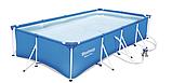 Каркасный бассейн Bestway с фильтром-насосом. Размер ДхШхВ: 400-211-81см. Объем: 5700 л. Вес: 34.2кг. 56424, фото 2
