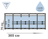 Каркасный бассейн Bestway. Диаметр: 305см. Глубина: 76 см. Объем: 4678 л. Материал: ПВХ. 56677, фото 3
