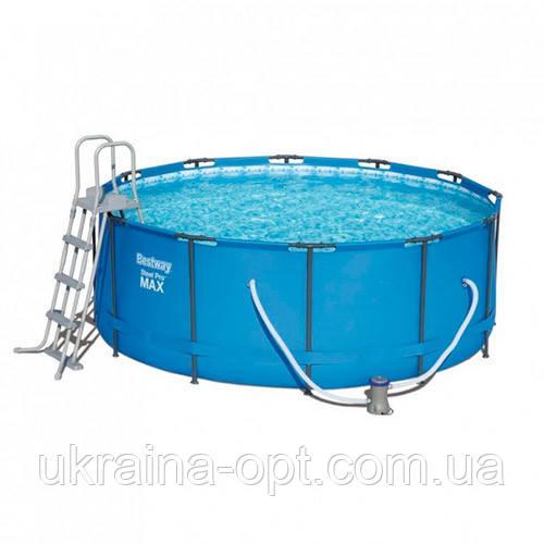 Каркасный бассейн с лестницей и насосом-фильтром. Диаметр: 366 см. Высота: 133 см. Объем: 11440 л. 15427