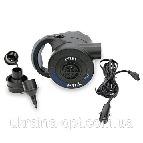 Насос Intex66622 работает от аккумулятора. Заряжается от электросети 220V или от прикуривателя.