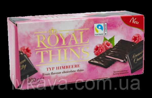 Черный шоколад  Royal Thins typ himbeere   , 200 гр, фото 2