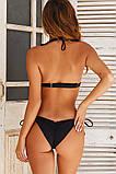 Раздельный купальник пуш ап бикини черный, фото 2