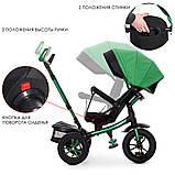 Детский трехколесный велосипед с родительской ручкой. Поворот сидения. Мелодии. USB. Мягкое сидение.M 4058HA-4, фото 2