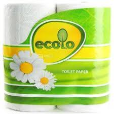 """Папір туалетний """"Ecolo"""" Deluxe 3шар.білий 4рулони"""