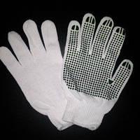 Перчатки белые Х/Б Россия, пара