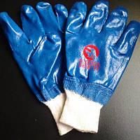 Перчатки синие на рез. 10, пара