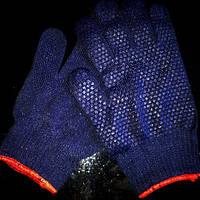 Перчатки синие синтетика, пара