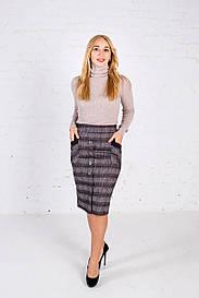 Женская теплая трикотажная юбка Ундина