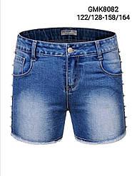 Джинсові шорти для дівчаток, Угорщина, Glo-story, рр.158-164, арт. 8082