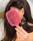 Расческа для волос Janeke 1830 Superbrush The Original Italian Розовый Neon, фото 2