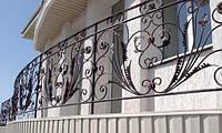 Кованый балкон с перилами, фото 1