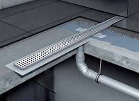 Канал душевой без сифона с вертикальным выпуском с фланцем 585мм ACO Shower Drain C-line, фото 1