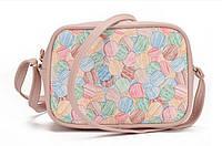 Маленькая женская сумка модная розовая
