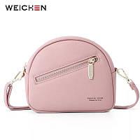 Маленькая женская модная сумка розовая WEICHEN
