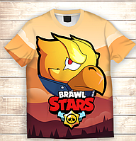 Футболка 3D дитяча BRAWL STARS Crow Phenix, фото 1