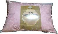 Подушка искусственный лебяжий пух, 50х70см, расцветка в ассортименте