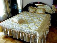 """Покрывало  жаккард с рюшей (180х220см)+3 подушки """"Timonin"""" , расцветка в ассортименте"""