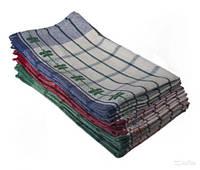 Полотенце кухонное льняное 40х65см, Китай, цвета в ассортименте