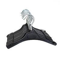 Вешалки пластмассовые черного цвета, 26 см, фото 1