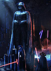 Картина GeekLand Star Wars Звёздные воиныкульт Вейдера40х60см SW.09.004