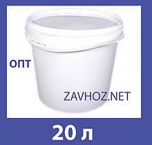 Ведро пластиковое 20л белое