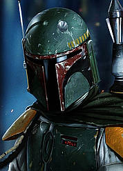 Картина GeekLand Star Wars Звёздные воины Боб Фетта40х60см SW.09.010