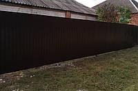 Забор из профнастила 2 м