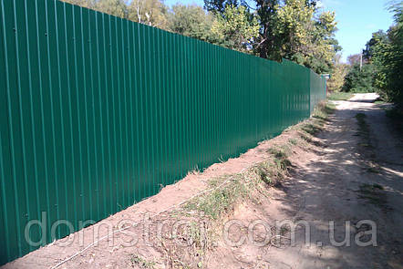 Забор из профнастила для частного сектора, фото 2