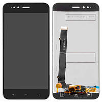 Дисплейный модуль LCD Xiaomi Mi A1 + touch Black Original