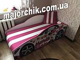 Кровать машинка Леди Пинк машина серии Элит Minnie Бесплатная доставка, фото 2