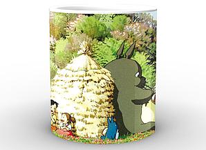 Кружка Geek Land белая Мой сосед Тоторо My Neighbor Totoro Тоторо отдыхает NT.02.010