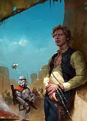 Картина GeekLand Star Wars Звёздные Хан Соло скрывается 40х60см SW.09.024