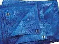 Тент тарпаулин 4х6 ПВХ покрытие (синий)