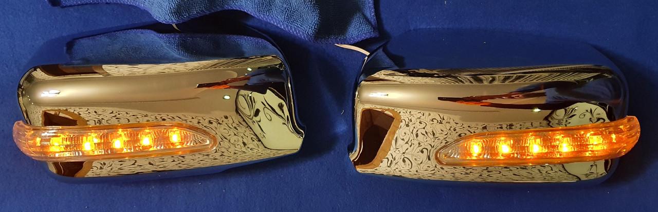Накладки дзеркал з поворотом mitsubishi lancer 9