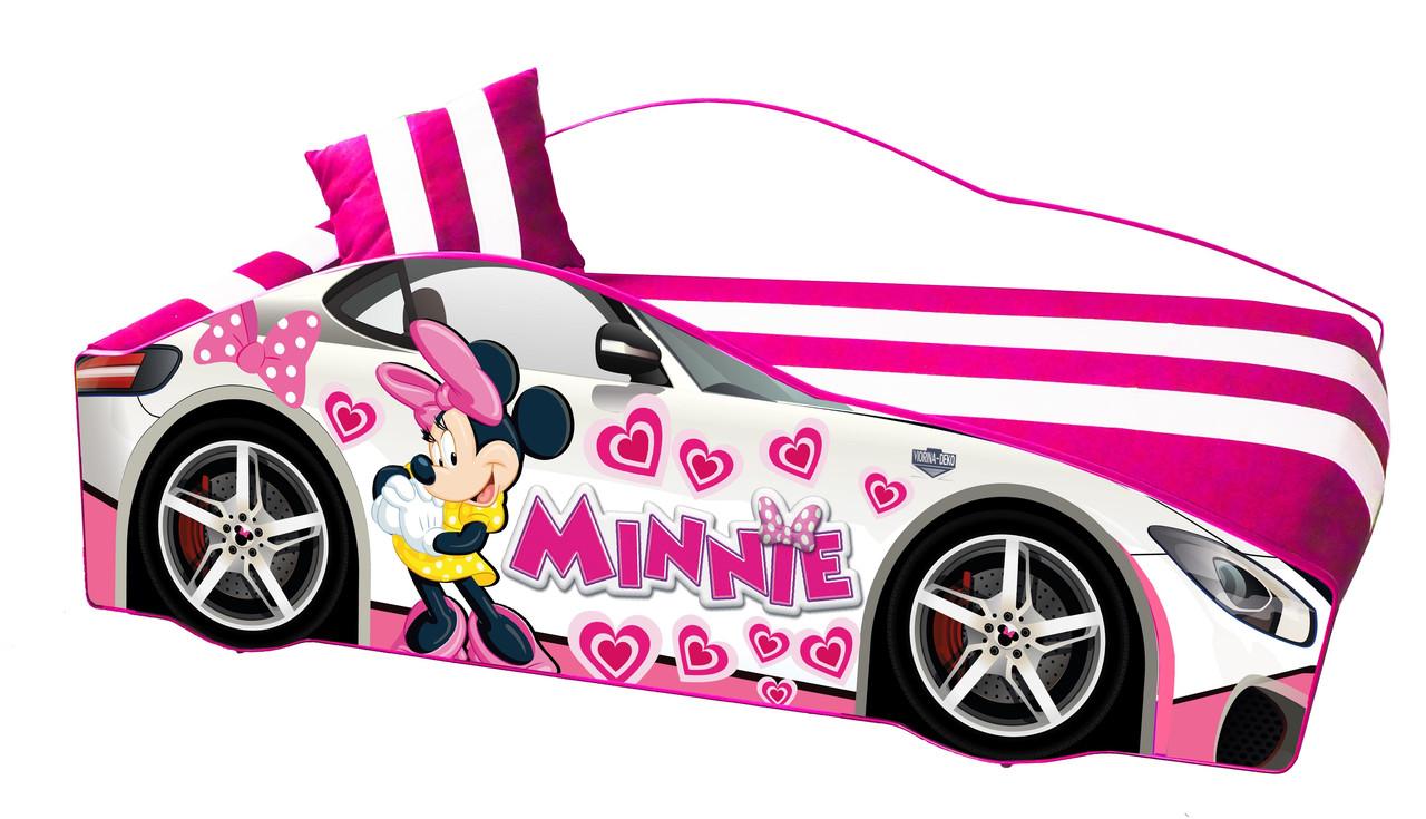 Кровать машинка Леди Пинк машина серии Элит Minnie Бесплатная доставка