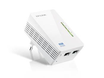 Адаптер для создания сети Ethernet на основе электросети TL-WPA4220 (500Mbps, Wifi)