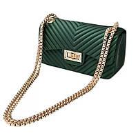 Мини сумка клатч женская модная зеленая