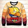 Світшот 3D Gold Crow Brawl Stars