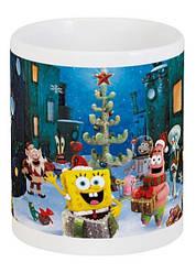 Кружка SpongeBob SquarePants новогодний