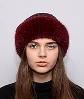 Женская зимняя вязанная шапка Ажур Марсал , фото 1