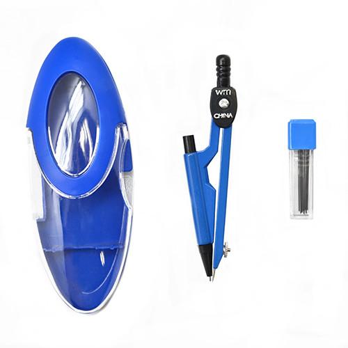 Циркуль в пластиковом футляре с грифелем 2 предмета 12 шт. в упаковке, ST00156