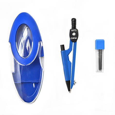 Циркуль в пластиковом футляре с грифелем 2 предмета 12 шт. в упаковке, ST00156, фото 2