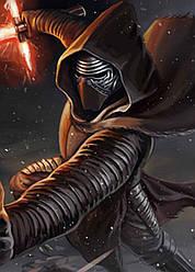 Картина GeekLand Star Wars Звёздные Кайло Рен атакует 40х60см SW.09.047