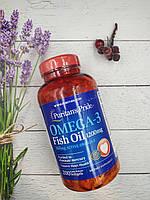Puritan's Pride Omega 3 Fish Oil 1200 mg 200 softgels 360 mg activ omega 3 puritans, фото 1