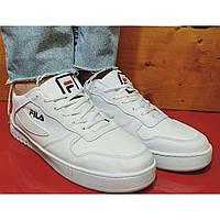 Мужские кроссовки кеды белые fild.